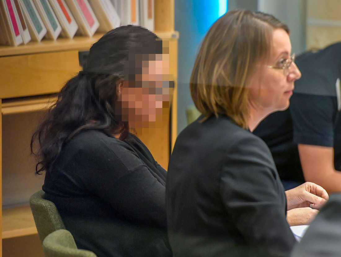 42-åriga kvinna under torsdagens förhandlingar.