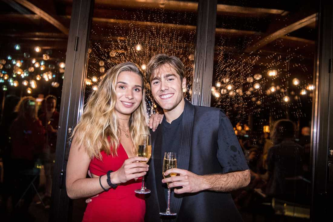Benjamin Ingrosso och dåvarande flickvännen Linnea Widmark 2018.
