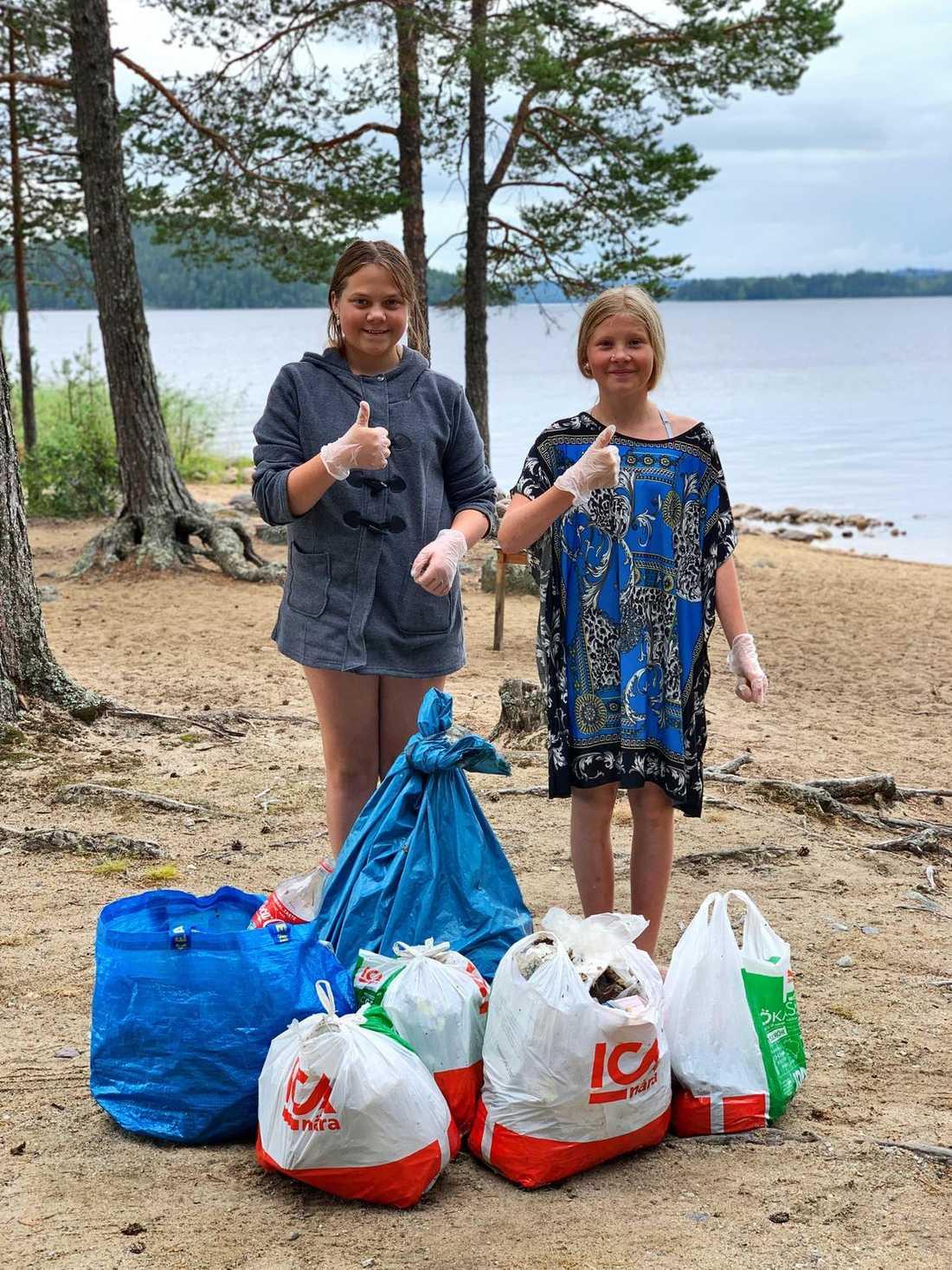 Alexandra Hopkins, 13, och Ängla Kennethsdotter Holmqvist, 12, tog saken i egna händer.