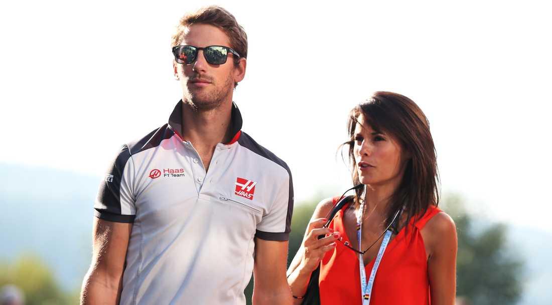Romain Grosjean och Marion Jollès.