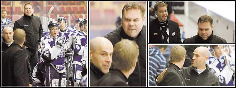 RÖK IHOP I hemmapremiären blev Tommy Salo (t.v.) uppvisad på läktaren efter ett utbrott. I går rök han ihop med Leksands coach Leif Strömberg.