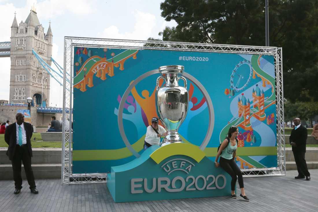 I London, på Wembley, ska EM-finalen spelas nästa år. Uefa är beredd på att parera EM-arrangemanget utifrån coronaläget. Arkivbild.