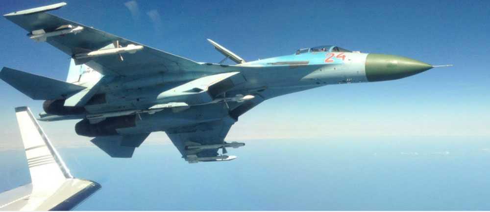 Ryskt SU27-plan, på FRA:s bild.