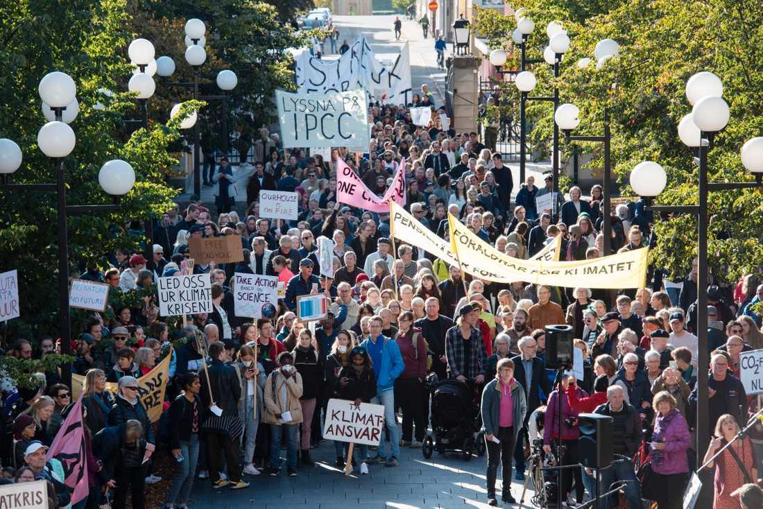 Från klimatdemonstrationen i Umeå den 27 september.