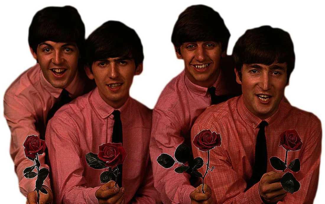 Från The Beatles första Sverigebesök 1963.