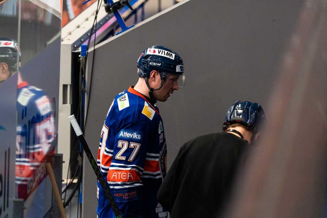 Martin Lundberg fick matchstraff i första kvartsfinalen.