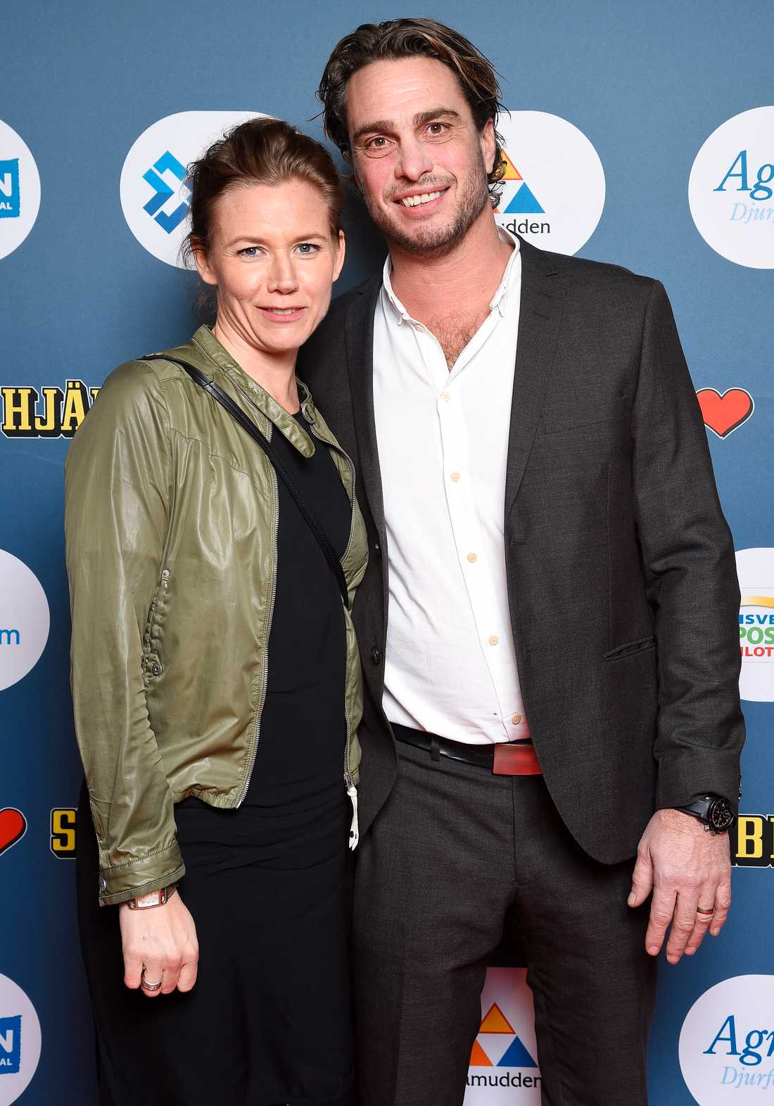 Anders Öfvergård med sin Cecilia.