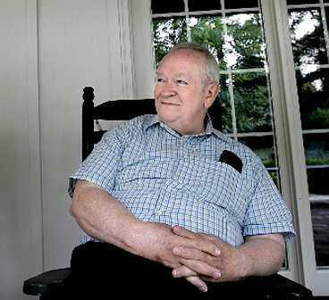 Stanley Dearman på verandan i Philadelphia.