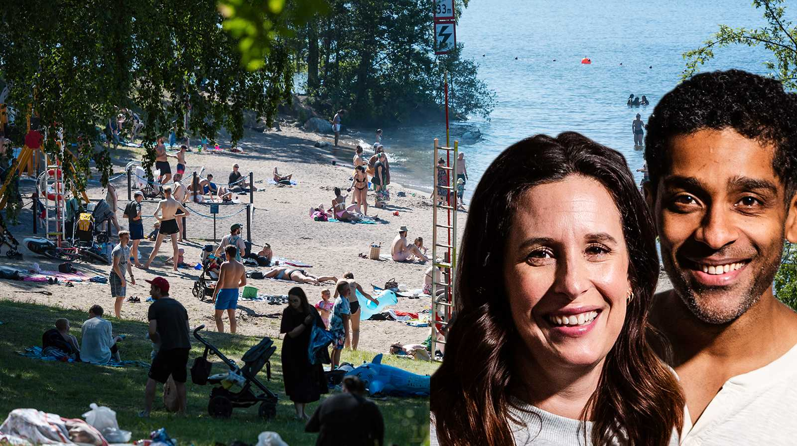 Malin och Alexander Karim skriver om strandlivet med barn.