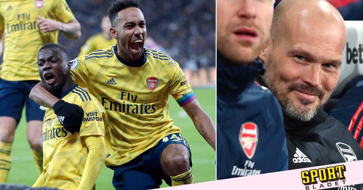 Arsenal tog första segern med Fredrik Ljungberg