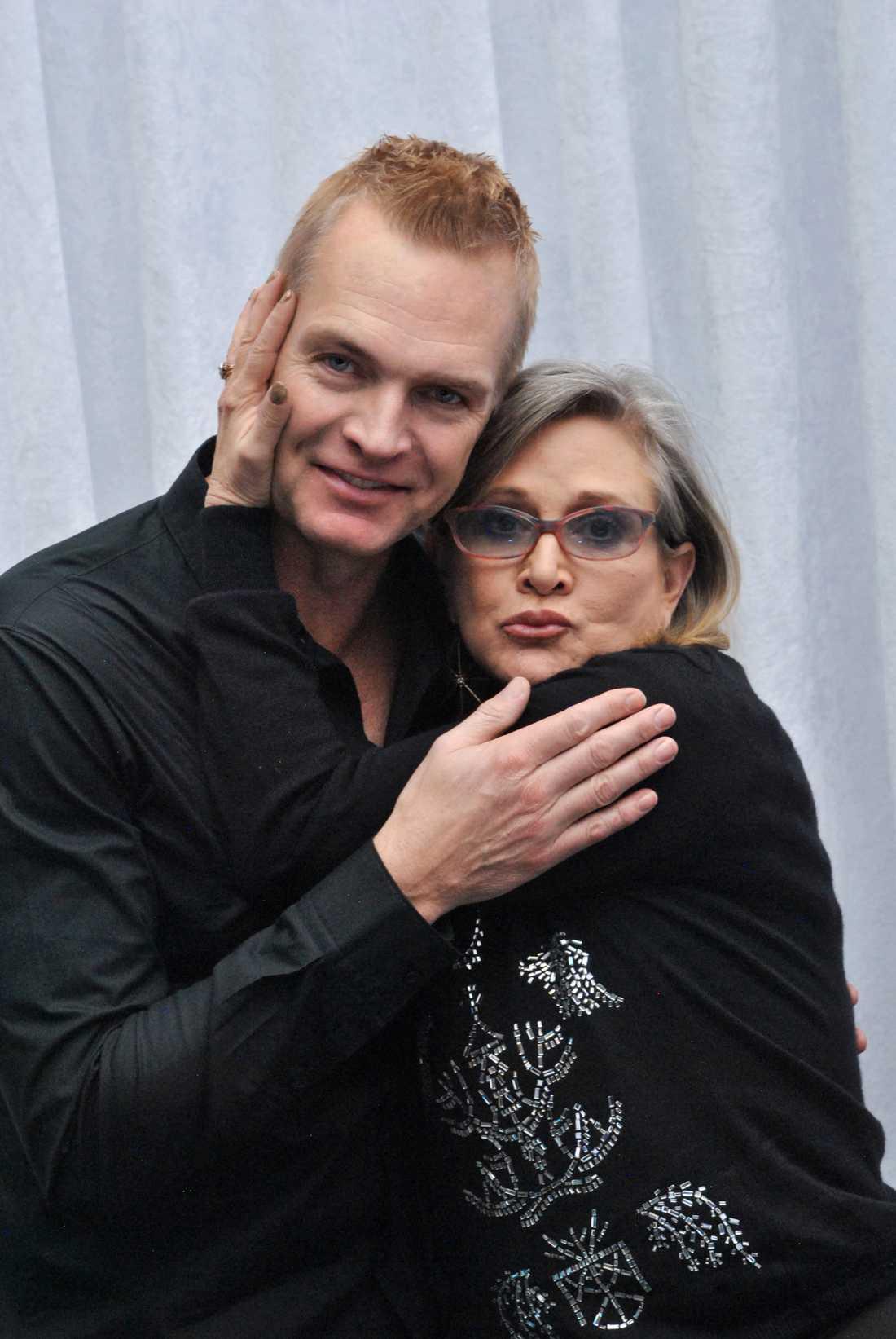 Magnus Sundholm träffade Carrie Fisher i Hollywood.