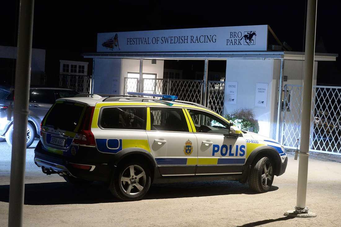 Galoppbanan i Upplands-Bro rånades.