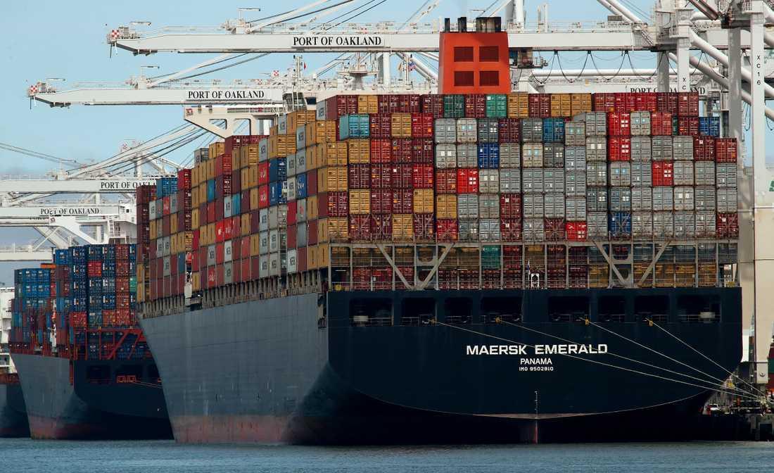 """Det nya coronaviruset gör att den danska containergiganten Maersk räknar med """"en svag start på året"""". Arkivbild."""