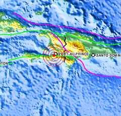En kraftig jordbävning med magnituden 7,0 har drabbat Haiti. Huvudstaden Port-au-Prince ligger 15 kilometer från skalvets epicentrum.