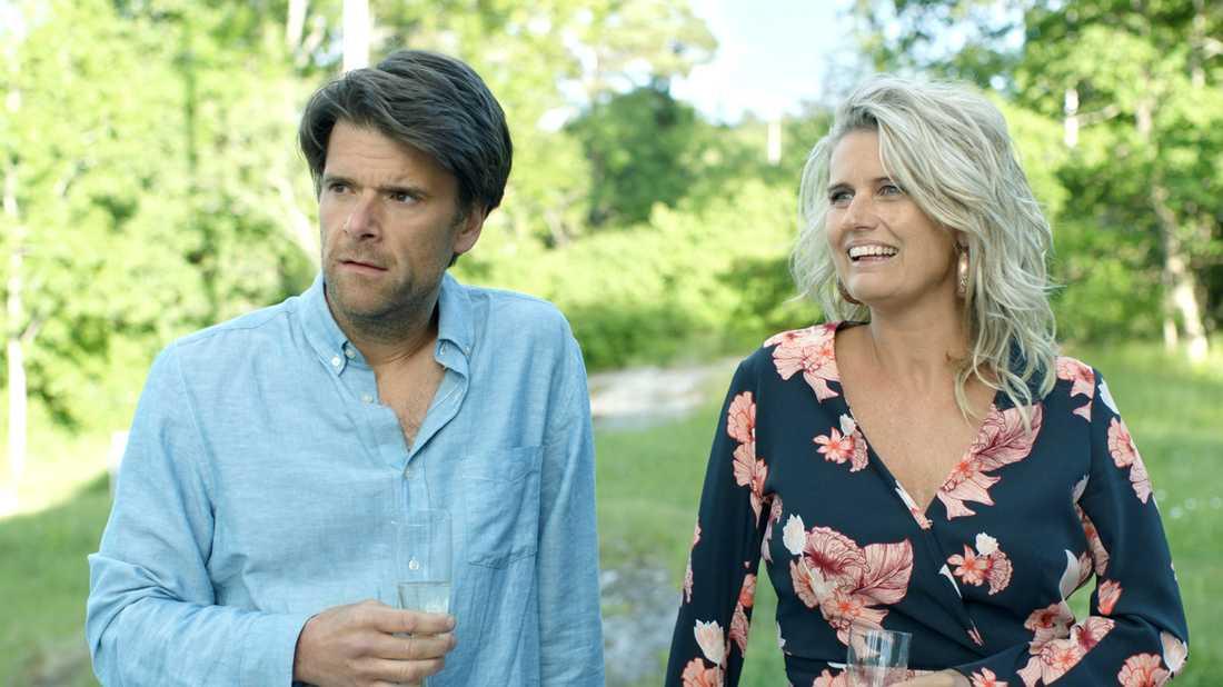"Peter Magnusson och Christine Meltzer i ""Sommaren med släkten""."
