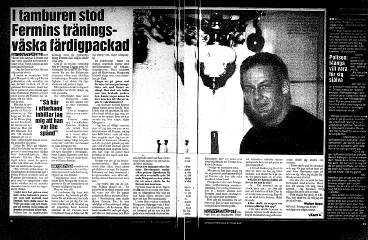 Faksimil från Aftonbladet i november 1992.
