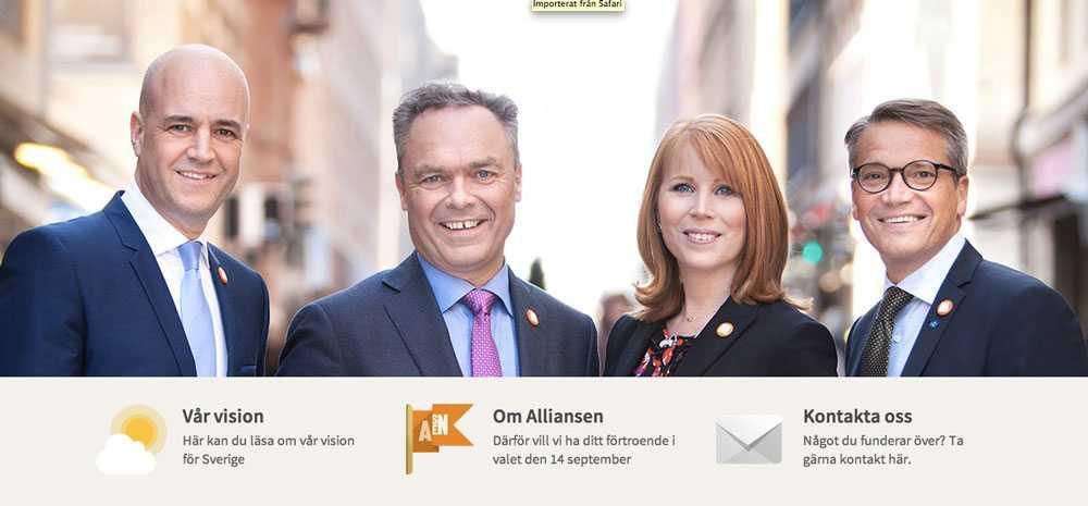 Loggan finns på Alliansens hemsida.