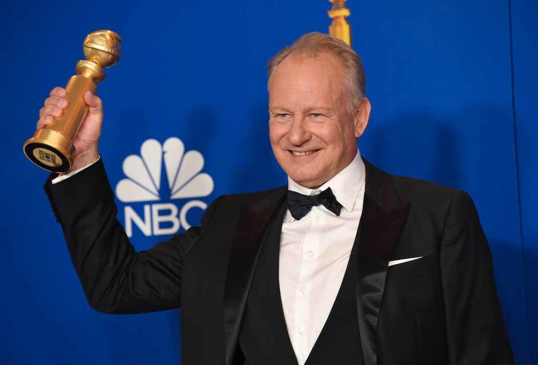 """Efter statyetten på Golden Globe-galan (bilden) har Stellan Skarsgård fått ytterligare ett pris för sin roll i """"Chernobyl"""". Arkivbild."""