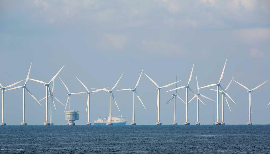 Vindkraftsparken Lillgrund i Öresund