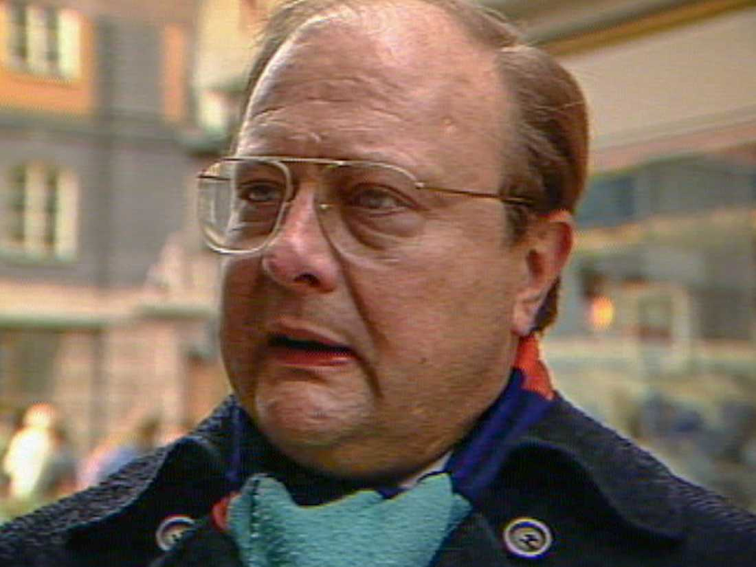 Stig Engström har hävdat att han var ett av vittnena till Palmemordet, här i en SVT-intervju från 1986. Men flera oklarheter finns i hans uppgifter, och nu har han i stället pekats ut som den misstänkte mördaren. Arkivbild.