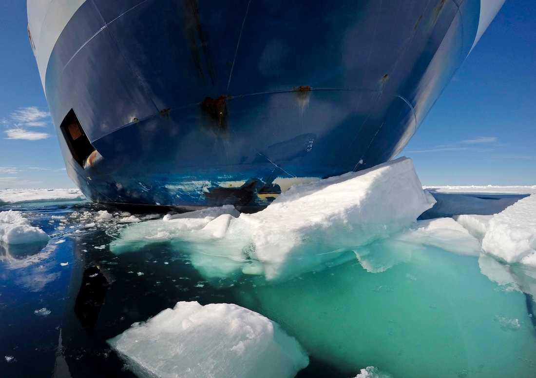 Det blev en relativt lugn vinter för isbrytarna. Arkivbild.