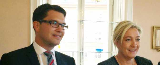 I november förra året hade Jimmie Åkesson (SD) samtal med Nationella Frontens Marine Le Pen i Stockholm.