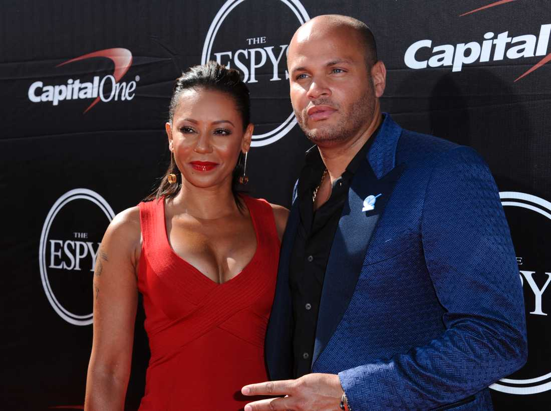 Melanie Brown och Stephen Belafonte.