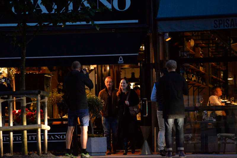 Efter andra spelningen i juni gick Bruce Springsteen med frun Patti Scialfa på Bistro Italiano.