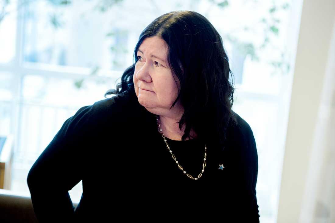 Åklagare Stina Sjöqvist i Ångermanlands tingsrätt under rättegången.