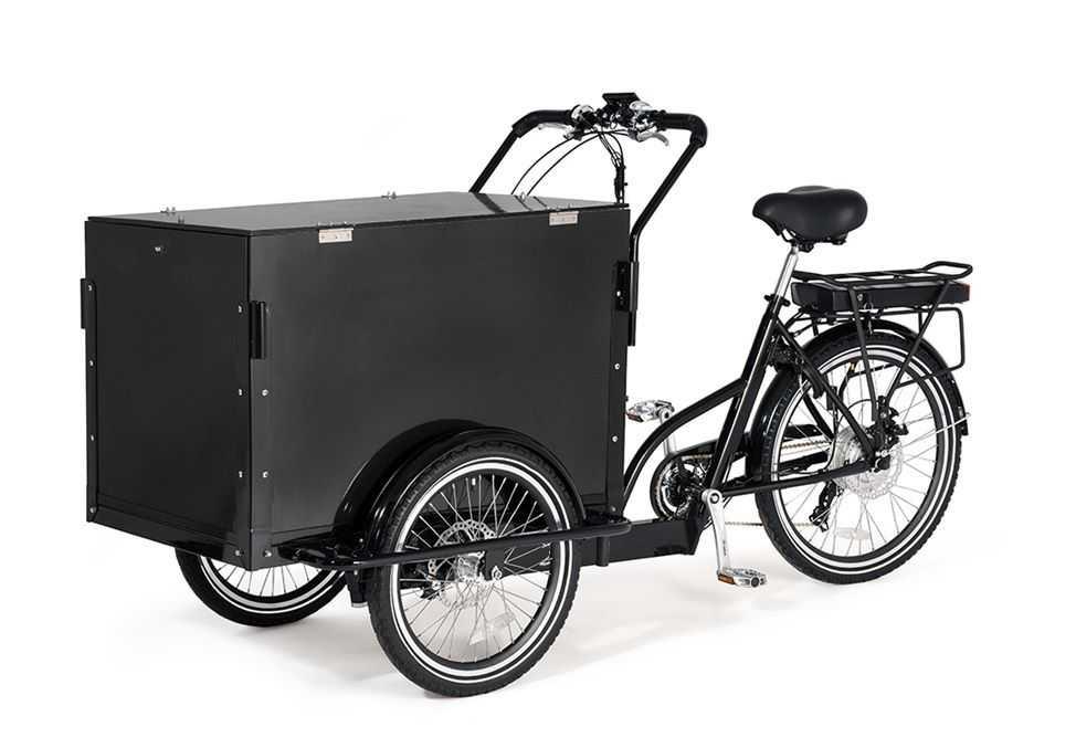 """Polisen i Linköping vill ha in tips om en lådcykel efter explosionen. """"Cykeln på bilden kan skilja sig från den cykel vi söker när det gäller färg och annan utformning"""", skriver polisen på sin hemsida."""