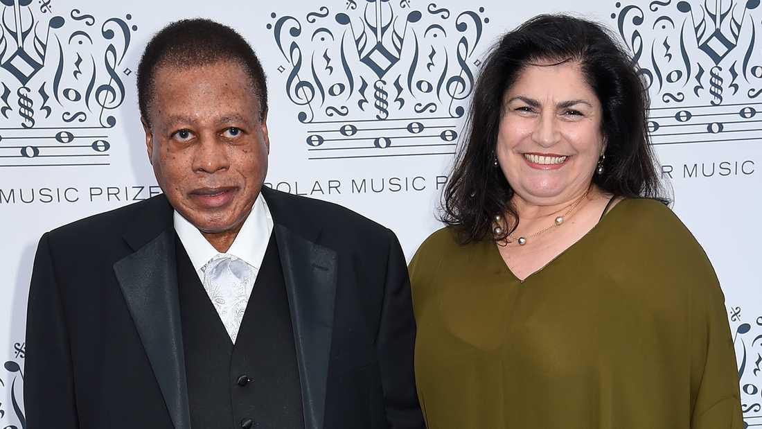 Wayne Shorter och hustrun Carolina Dos Santos.