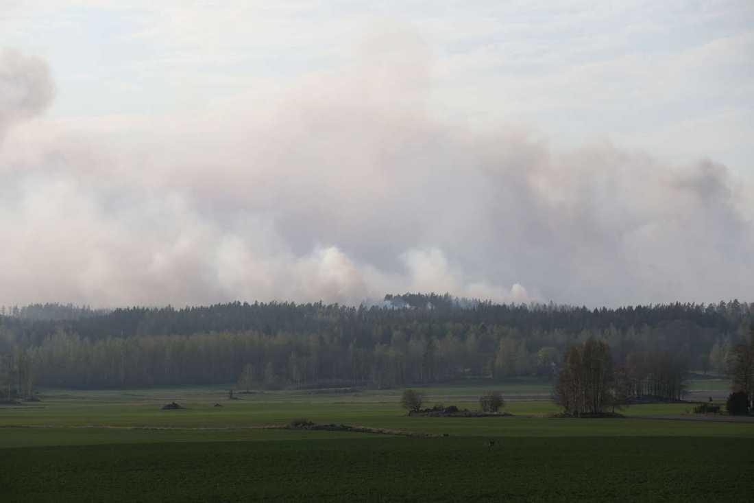 Branden i Tidingshyttan utanför Motala.