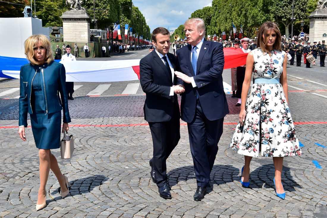 Trumps handskakning med Macron blev en snackis.