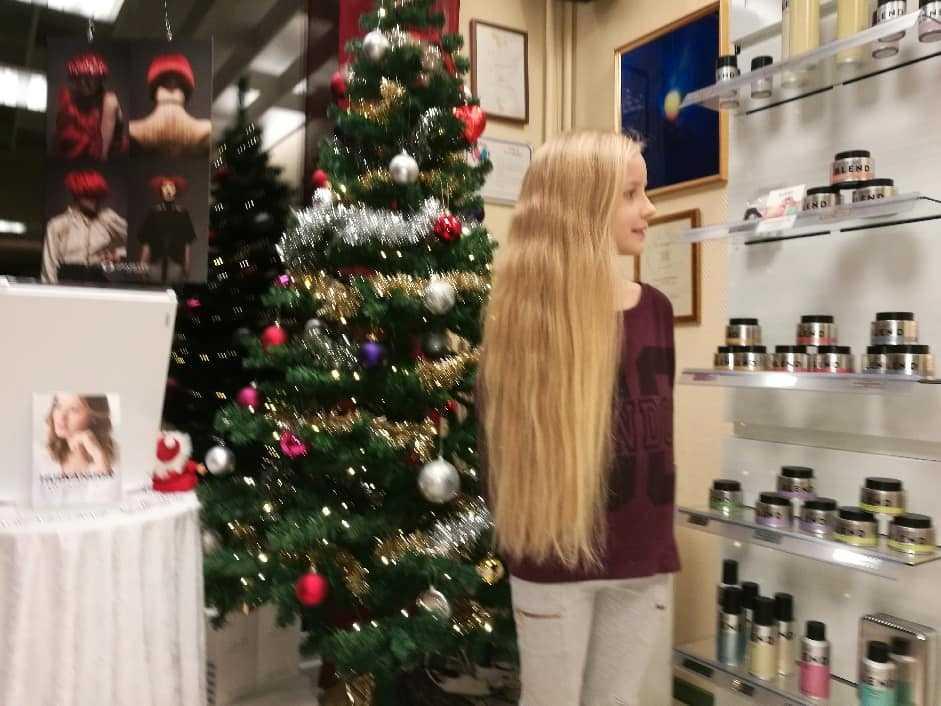 Ida Tellskog, 9, har haft långt hår så länge hon kan minnas.