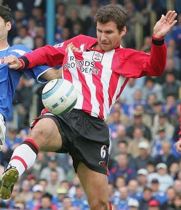 Andreas Jakobsson representerade Southampton 2005.