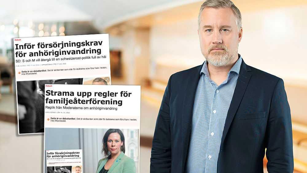 Vi behöver var tydligare och rakare när det kommer till försörjningskravet för anhöriginvandring. Förändringar behöver göras i Migrationsverkets handläggning för att göra verklig skillnad mot våra utlandssvenskar, skriver Jonas Andersson (SD).