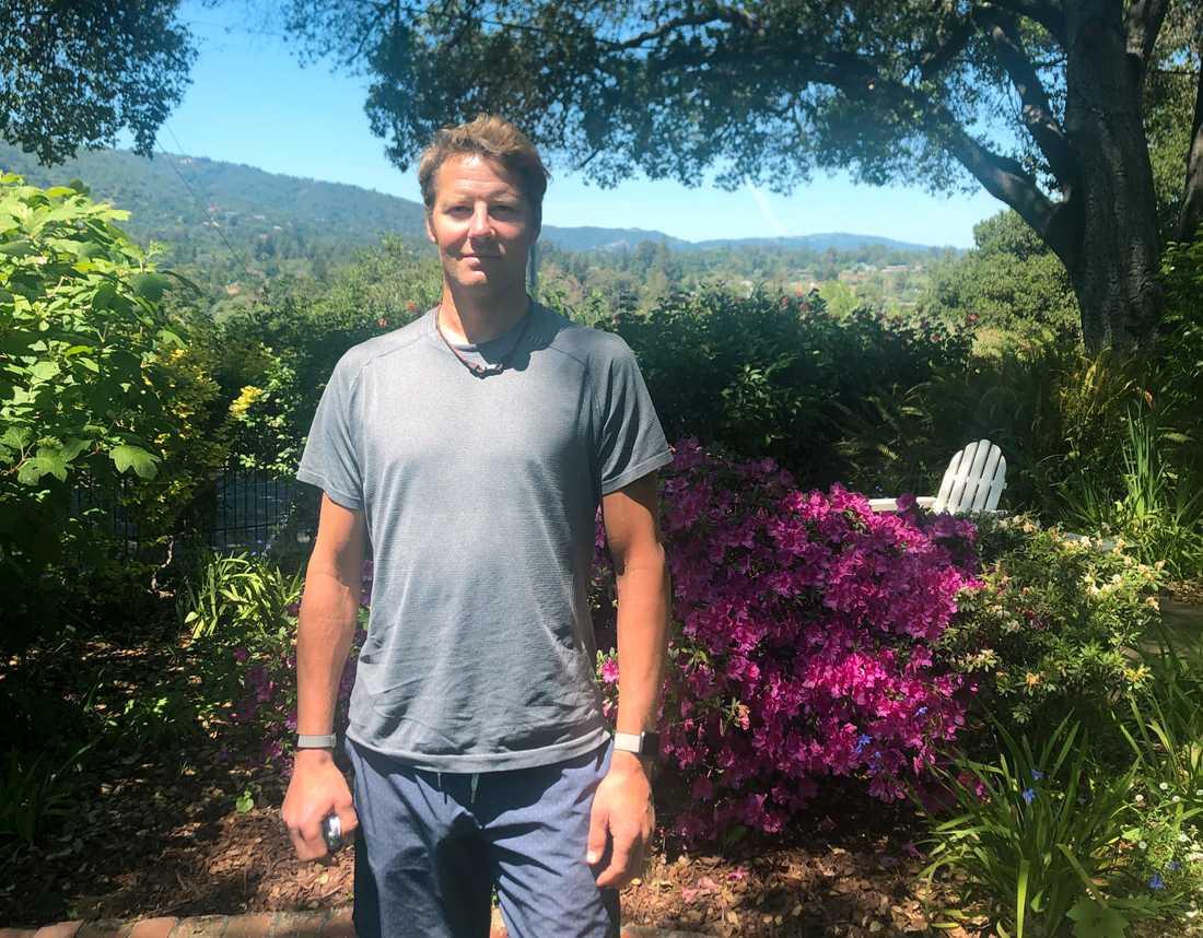 Johan Hedberg i hemmet i Los Gatos utanför San Jose.
