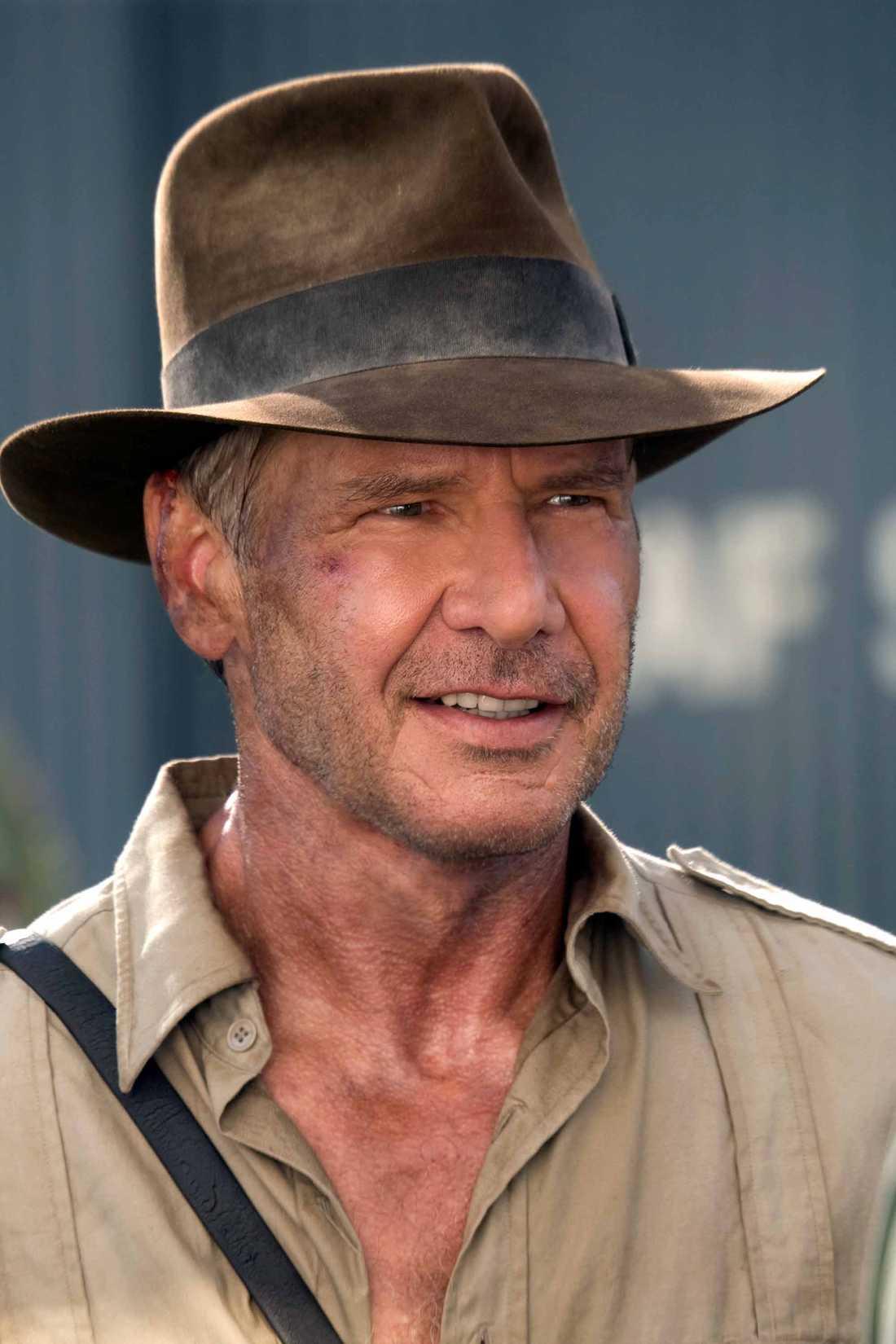 """Harrison Ford i """"Indiana Jones och kristalldödskallens rike"""" 2008."""