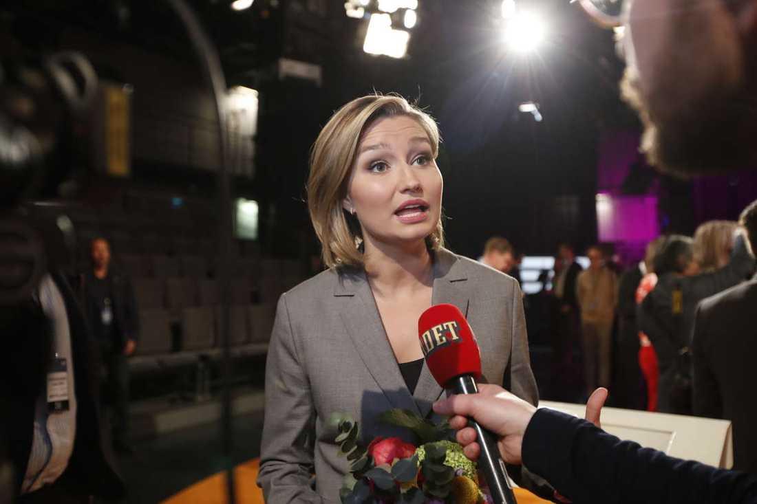 Efter Ebba Busch Thor upprepade sin fråga till statsminister Stefan Löfven efter debatten i SVT.