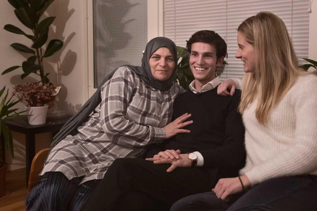 Omar med sin familj.