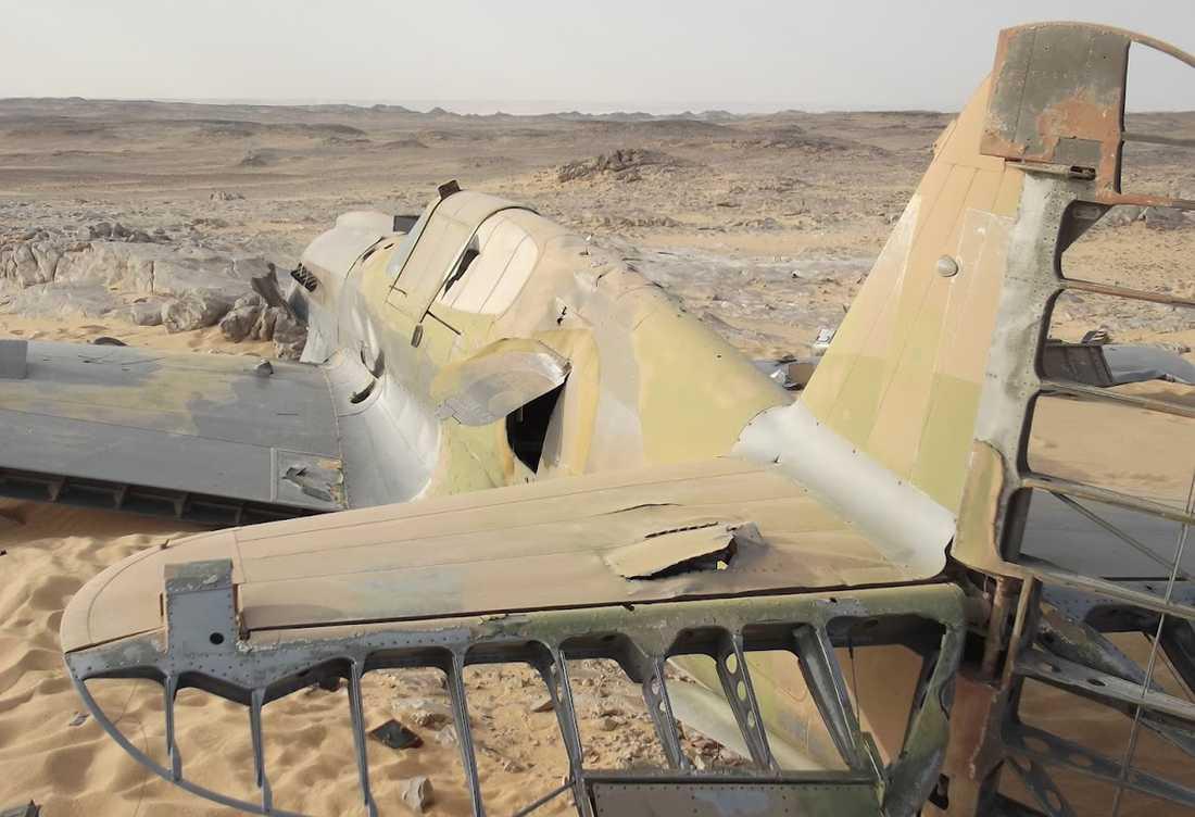 Flygplanet hittades i Saharaöknen i Egypten.