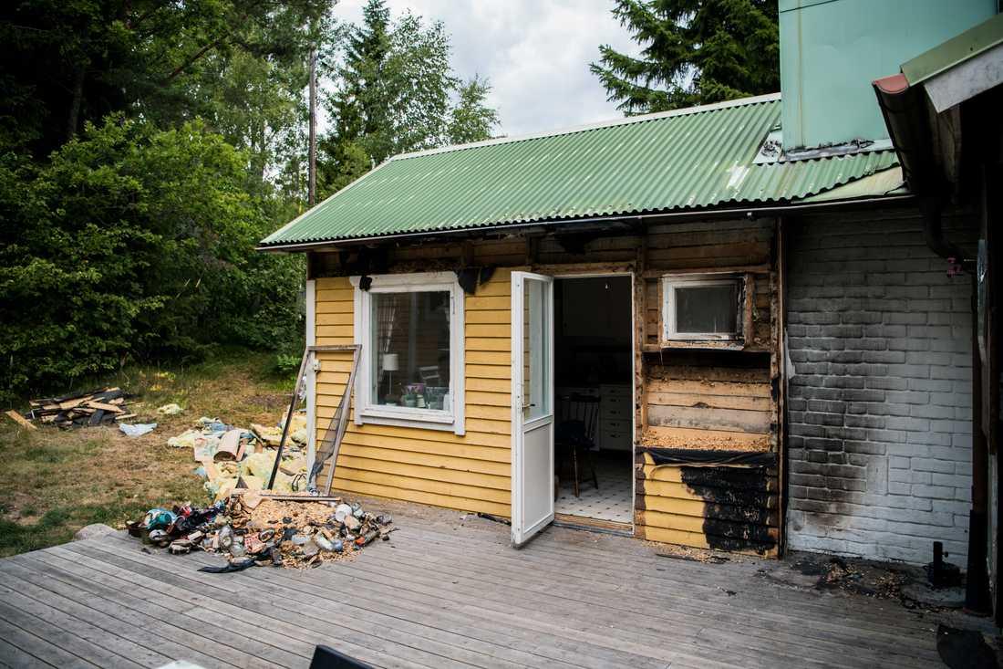 Branden var i köksdelen av sommarstugan.