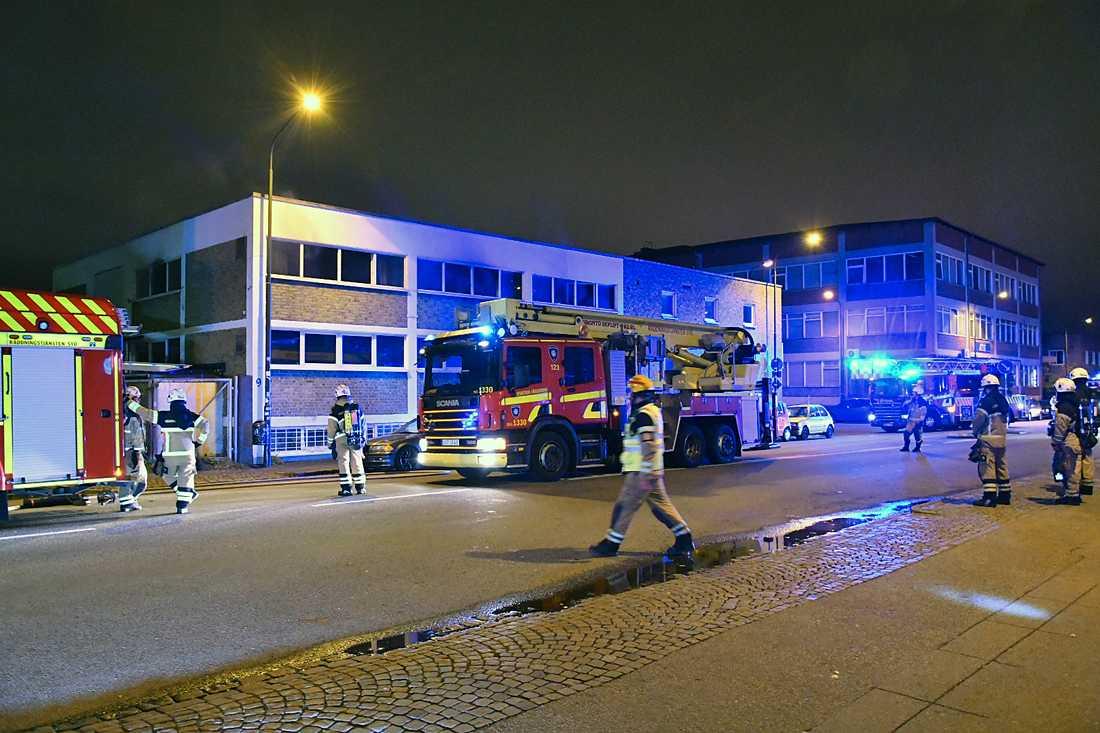 Brand i en muslimsk bönelokal i Malmö.
