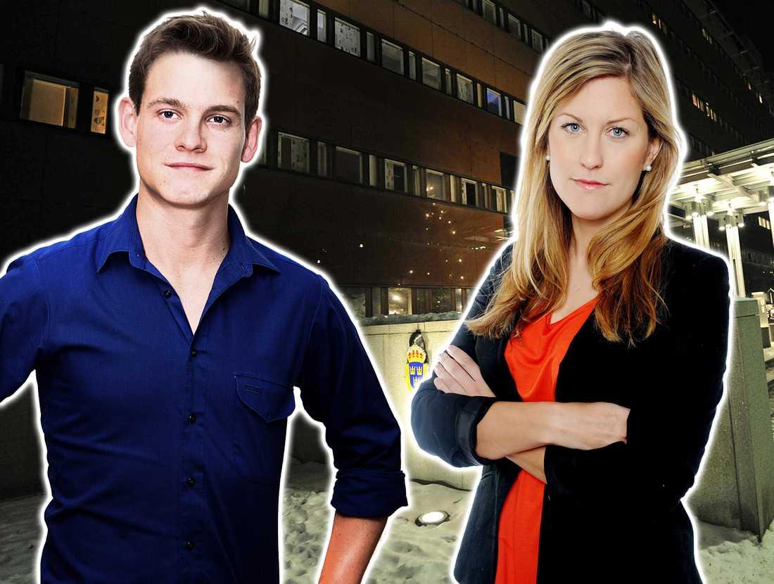 Martin Ekelund och Josefin Sköld, reportrar på Aftonbladet.