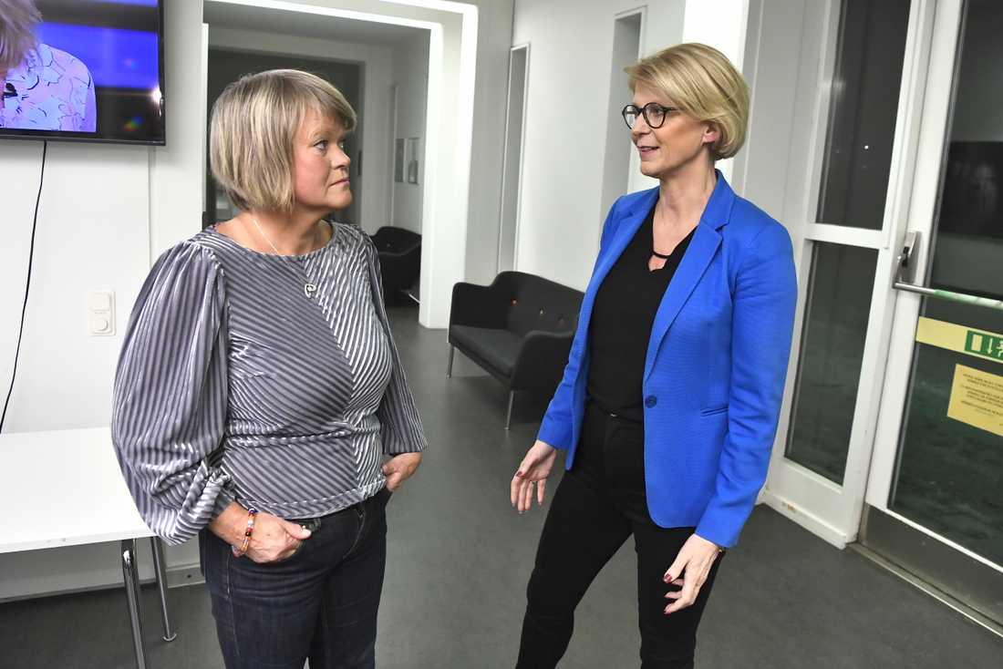 De ekonomiskpolitiska talespersonerna Ulla Andersson (V) och Elisabeth Svantesson (M) medverkade på söndagskvällen i SVT:s Agenda.