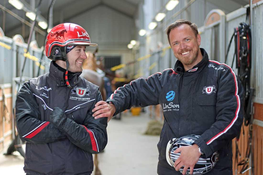 Björn Lind tillsammans med Johan Untersteiner.