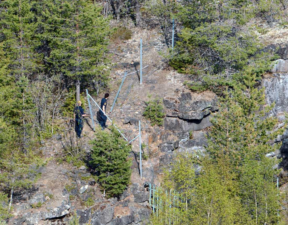 Söker. Området kring Gammelängsfortet var tidigare ett militärt område –nu är det ett populärt friluftsområde.