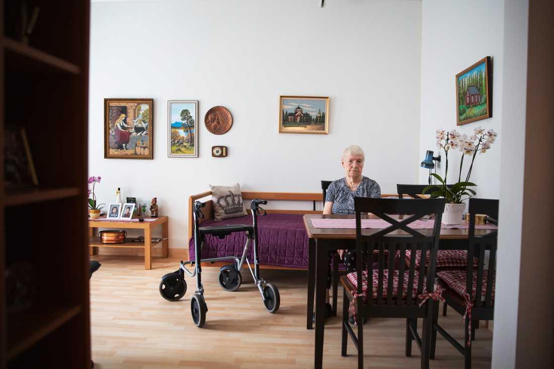 """""""Jag orkar ingenting, i dag har jag inte ens orkat läsa"""", berättar Gerda."""