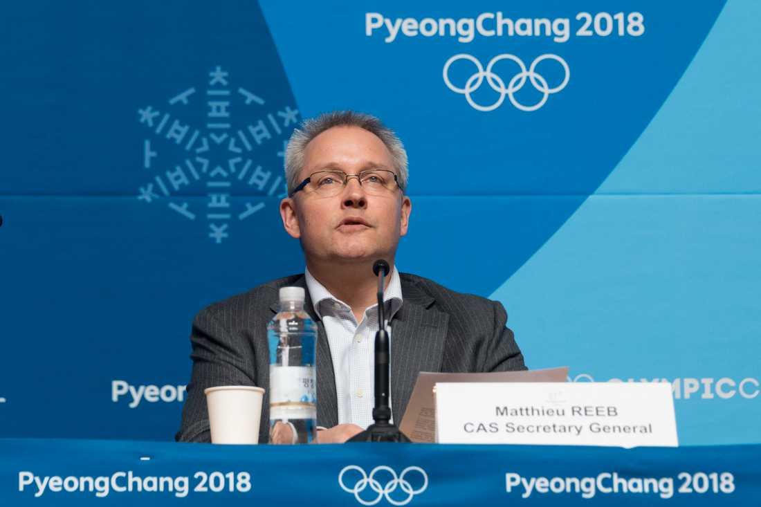 Generalsekreteraren för CAS, Matthieu Reeb, meddelade beslutet på en presskonferens.