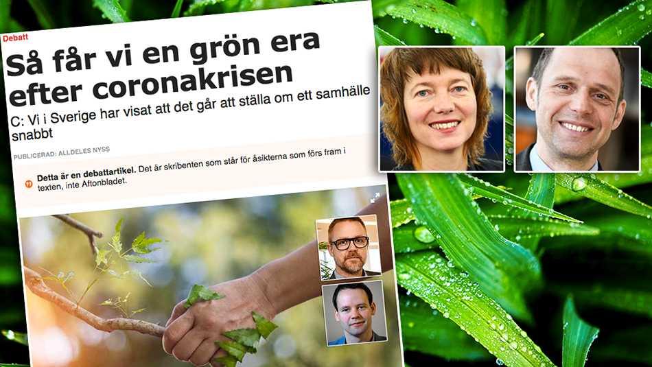 Tyvärr brister Federley och Nordin i sin trovärdighet när det gäller klimatarbetet eftersom deras parti konsekvent undviker att nämna två av våra största klimatbovar, nämligen flygsektorn och den storskaliga köttindustrin, skriver Malin Björk och Jens Holm (V).